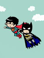 superman and batman by Bubbi-Robot