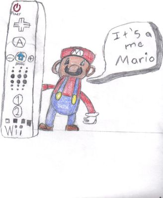Mario with a Wii Remote V2 by Pinutk