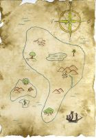 Pirate's Treasure Map by WargmoDesign