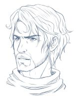Sketch: Hector Headshot by Dx33x