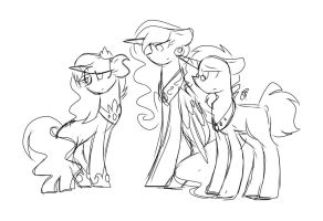 Sketch: Crystalverse: Legacy by ThePegasisterPony