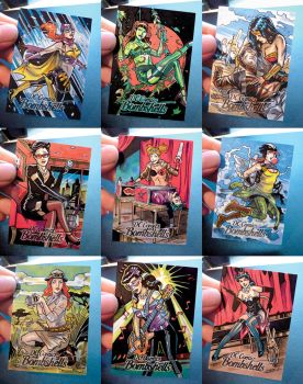 DC Bombshells Sketchcards by PencilInPain
