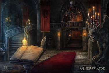 [C] Castle Foyer by MalthusWolf