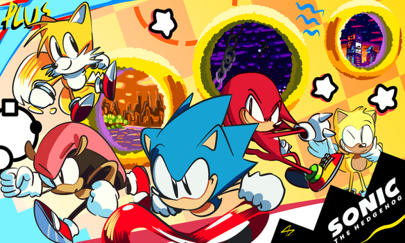 Sonic Mania Plus- Free to Use Desktop Background by 4zumarill
