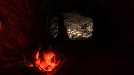 [Blender Cycles] A Crystal In A Cave by mikequeen123