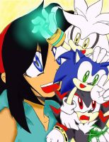 My First Digital Picture: Sonic Teamy by Alantaris