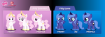 Filly Luna and Celestia Puppet Rigs v1.0 by Jordo76