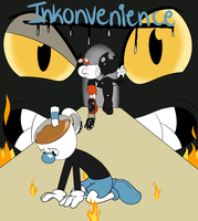 BendyStraw: Inkonvenience Comic cover by Glitched-Irken