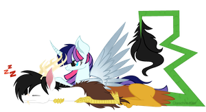 ART TRADE - Starry Eyes and Chaostar by Cheschire-Kaat