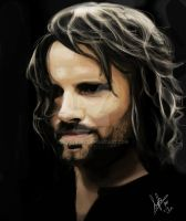Aragorn Digital Painting by superfizz