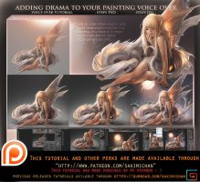 Adding drama to your painting .Voiceover tutorial. by sakimichan