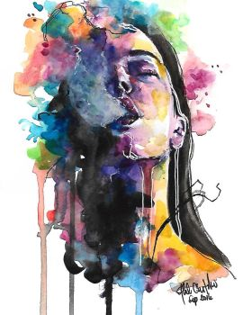Exhale by lefemmeartiste