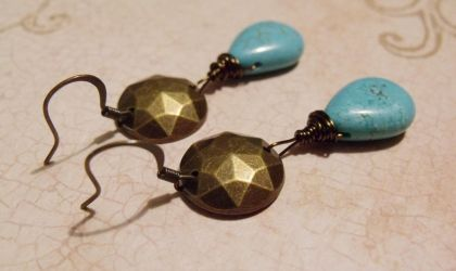 Aztek Priestess earrings by TheBrassGlass