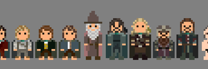 Lord of the Rings Characters 8 bit by LustriousCharming