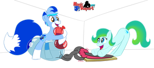 Delphina and Rupy's Bubble Fun by RupertBlueFox