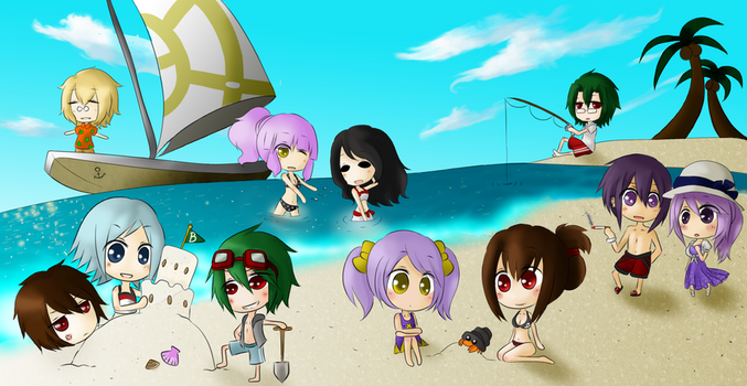 Coco Collab: OC Beach Party. by Aonyx