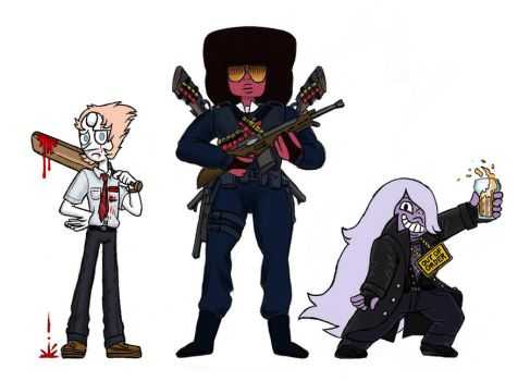 The Crystal Gems are like The Cornetto Trilogy by killb94