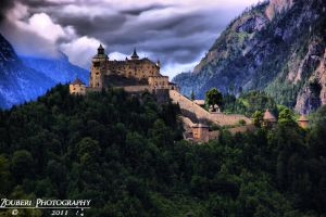 Hohenwerfen Castle HDR by Zouberi
