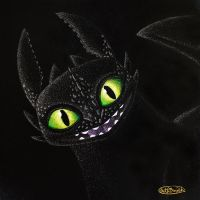 Toothless by tuftedpuffin