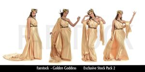 Golden Goddess   - Exclusive Stock Pack  2 by faestock