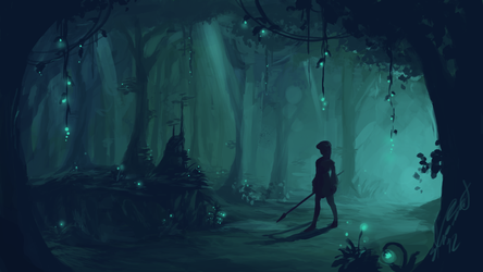 Forest Concept Art by Alrynnas