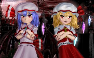 Remilia and Flandre by Primantis