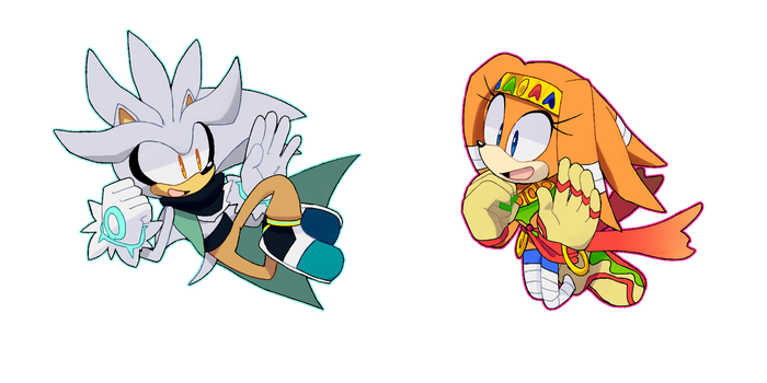 Silver And Tikal by TheDarkShadow1990