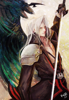 Sephiroth with Kingdom Hearts by RanyaCat