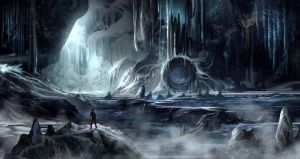Yet another ice cave environment by BlueRogueVyse