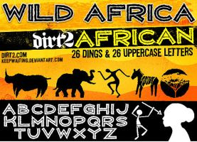 WILD AFRICA Font by KeepWaiting