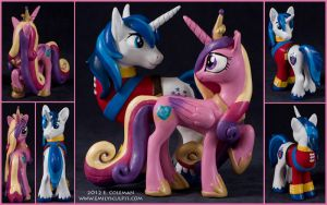 MLP : Princess Cadance and Shining Armor by emilySculpts