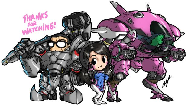 Me and my wife Overwatch Style! XD by Ronniesolano
