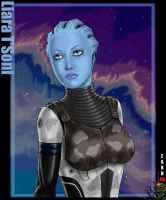 Liara bust by zakuman