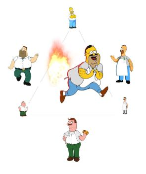 Homer Simpson + Peter Griffin + Bob Belcher by 10Alphonse10