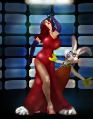 Jessica Sings for Roger Rabbit by LindArtz