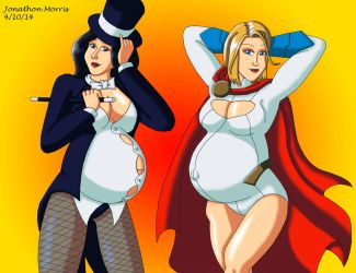 [Request] Pregnant Zatanna and Powergirl by JAM4077
