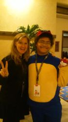 Picture with Veronica Taylor by LSSJOrangeLightning