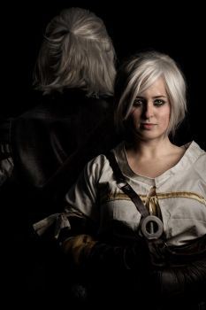 Ciri and The White Wolf by DosikLens