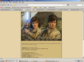 Old website design: Solo/Skywalker Family by jadedlioness