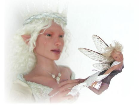 Art doll SCULPTURE elf - fairy by pixiwillow