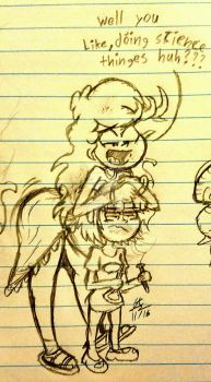 Amber...... get off of me. by cartoon56