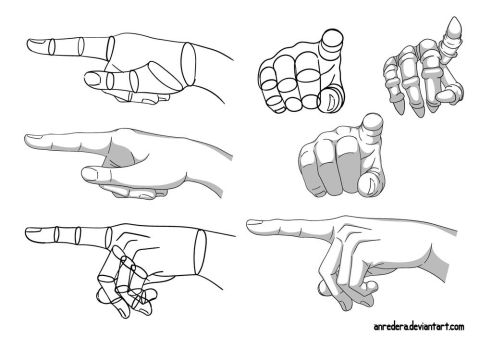 Hand Tutorial 11 - Different Poses by anredera