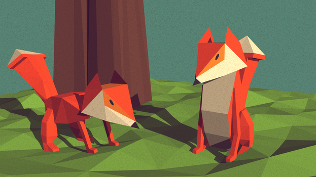 Foxes by Vkrzy