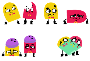 Snipperclips Expressions by Deggyart