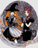 Happy Halloween  ~ Spooky Art-Trade by Harmony-Walls