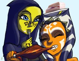Ahsoka and Barriss Lunch time by Montano-Fausto