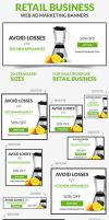 Retail Business Web Ad Marketing Banners by webduckdesign