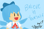 Cirno's Inspirational Quote by TheDrawingSheep