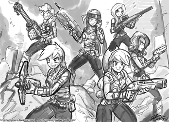 Human Mane6 of War by johnjoseco