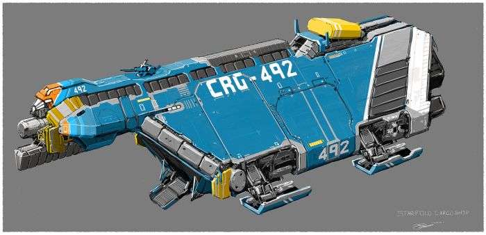 Small cargo spaceship. by Tinnenmannetje